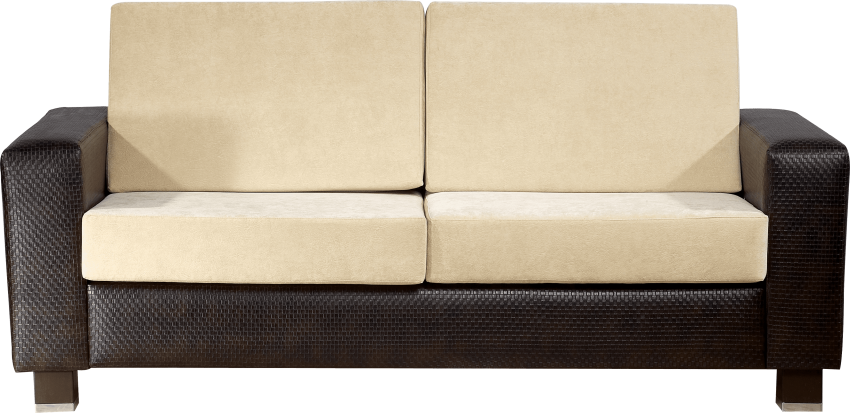 Modern couch png. Black and white sofa