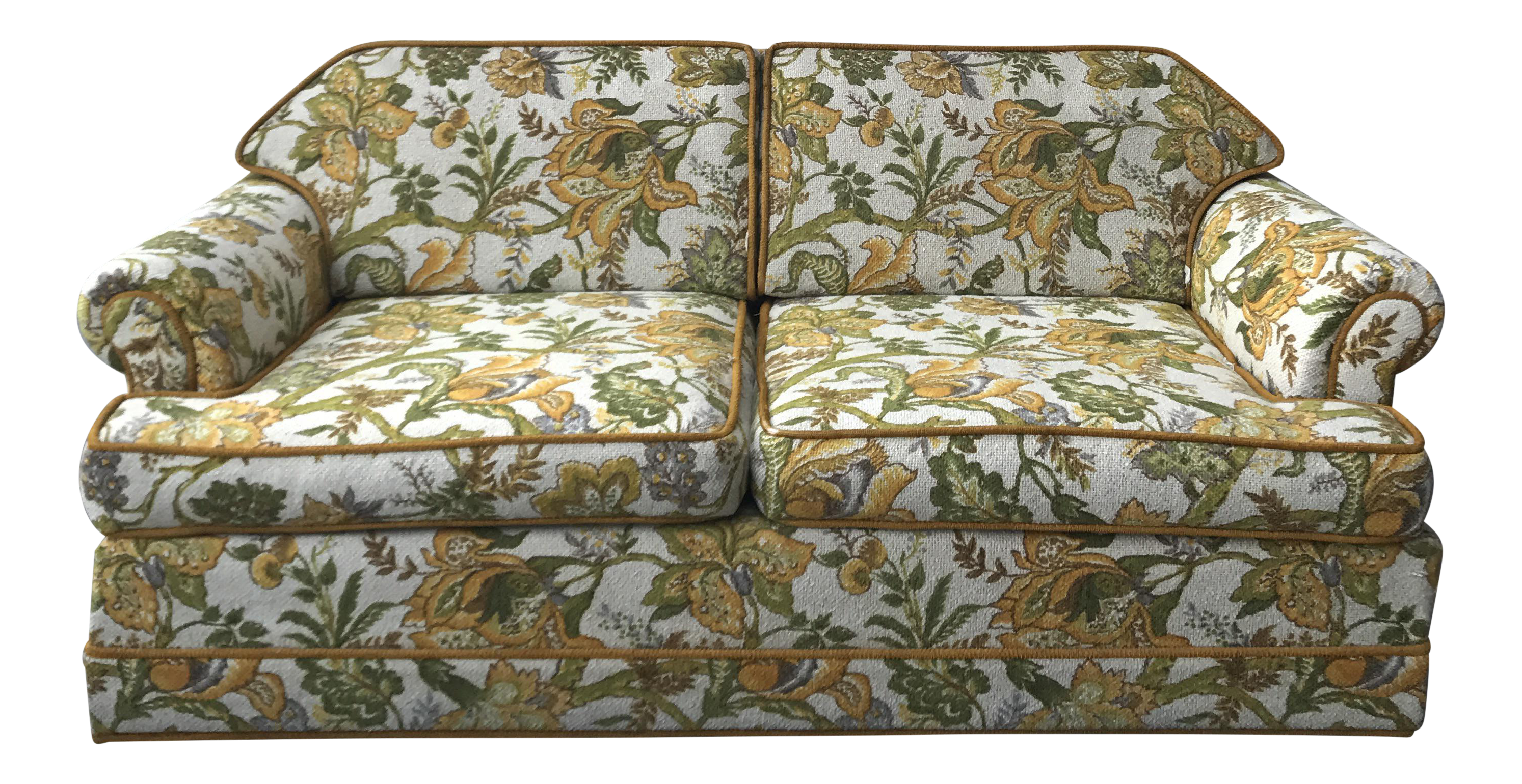 Modern couch png. Vintage mid century upholstered