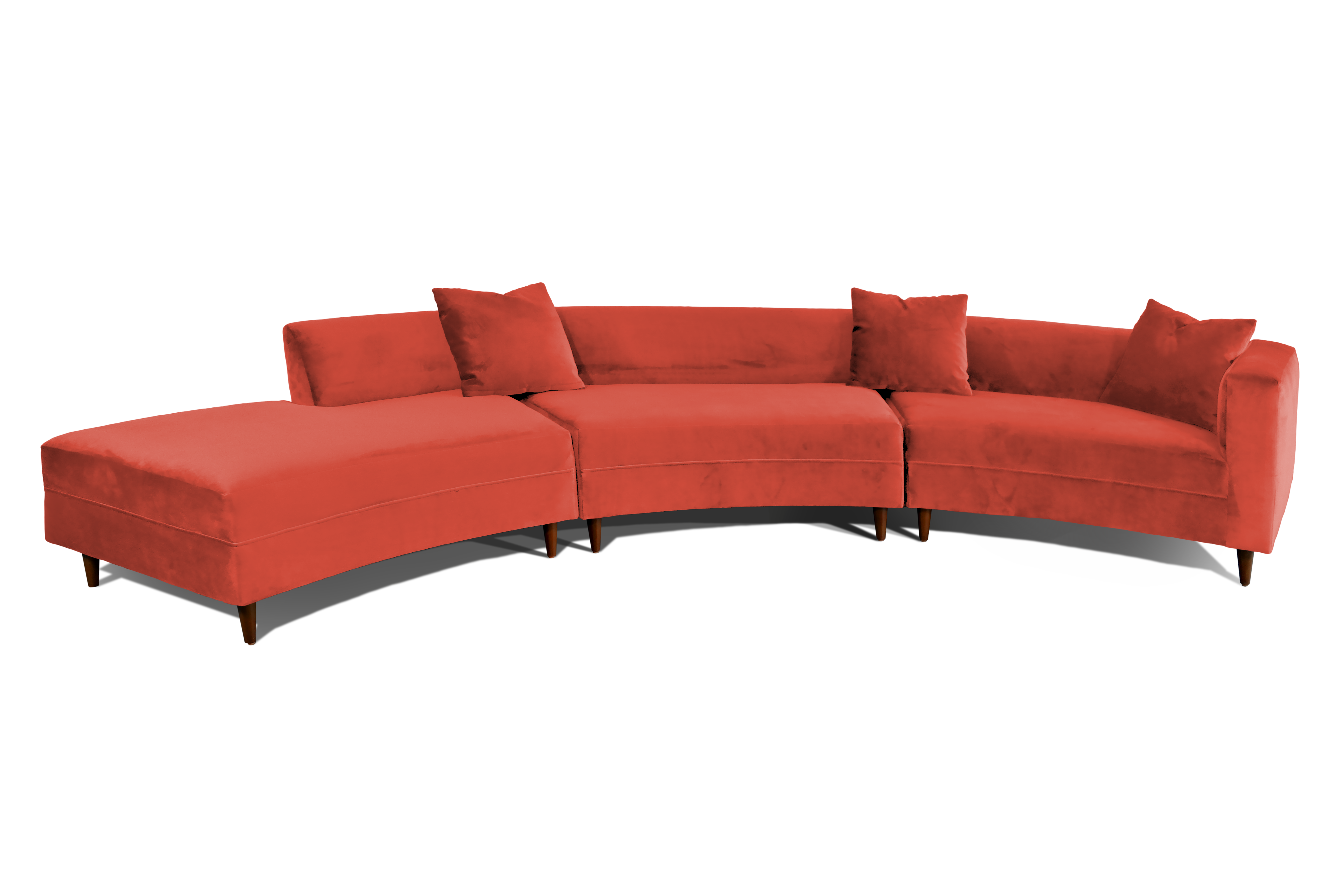 Modern couch png. Decenni curva mid century