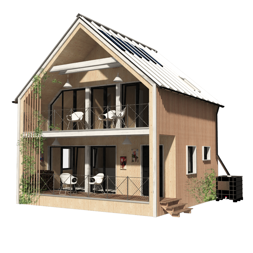 Modern home png. Building plans pin up