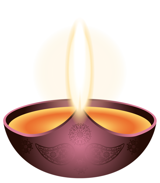 Modern vector diwali. Purple candle happy png