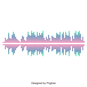 Modern vector music. Sound wave png vectors