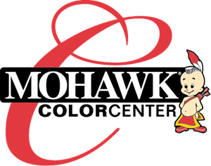 Mohawk vector silhouette. Color center logo eps