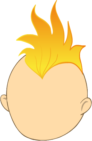 Mohawk vector transparent. Orange gallery yopriceville high