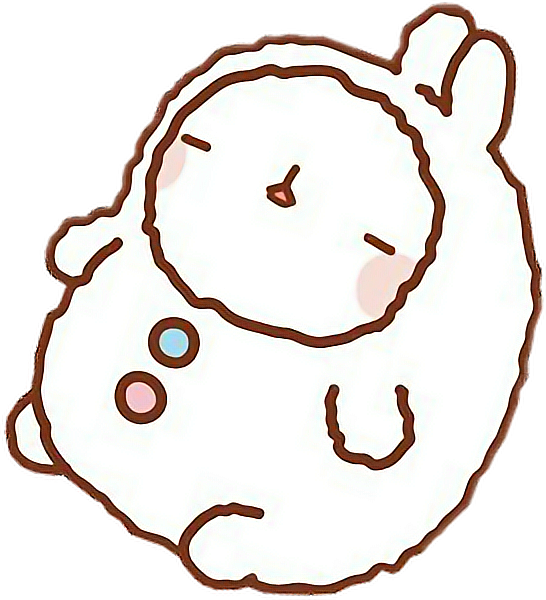 Molang transparent brown. Cute sticker by caram