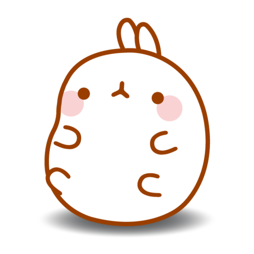 Molang transparent. By ak manga on