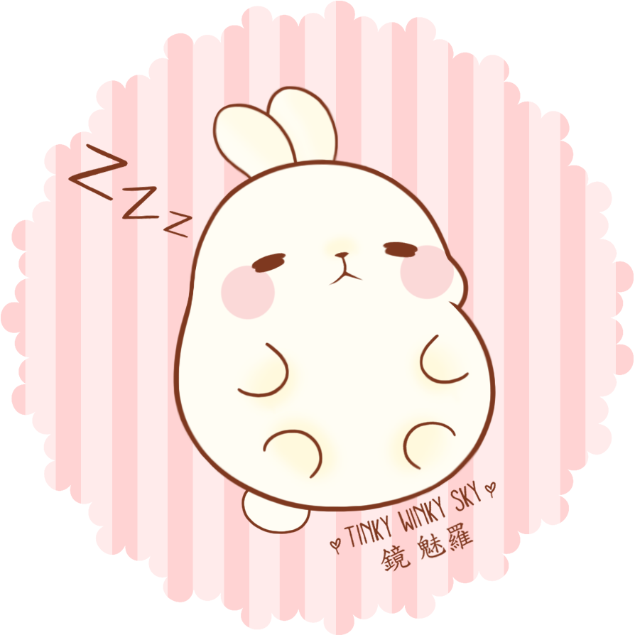 Molang transparent. The fat rabbit by