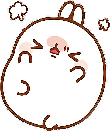 Molang transparent kawaii. Cute angry sticker by