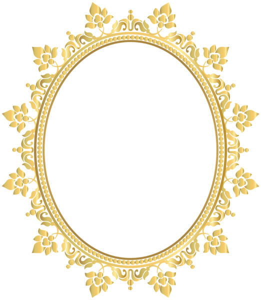 Moldura oval png. Decorative border frame transparent