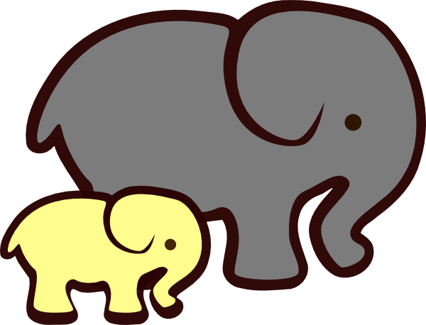 Elephants svg mommy baby. Mom and clipart at
