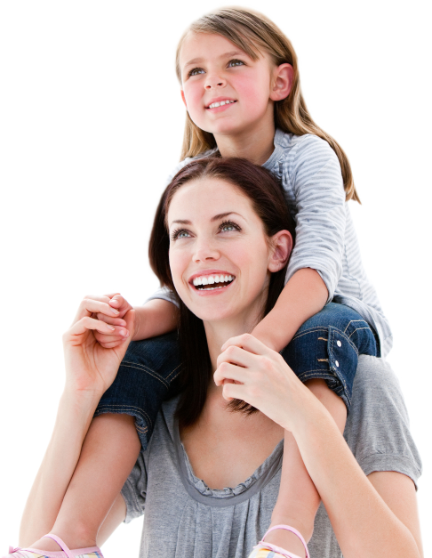Mother and children png. Girl mom transparent images
