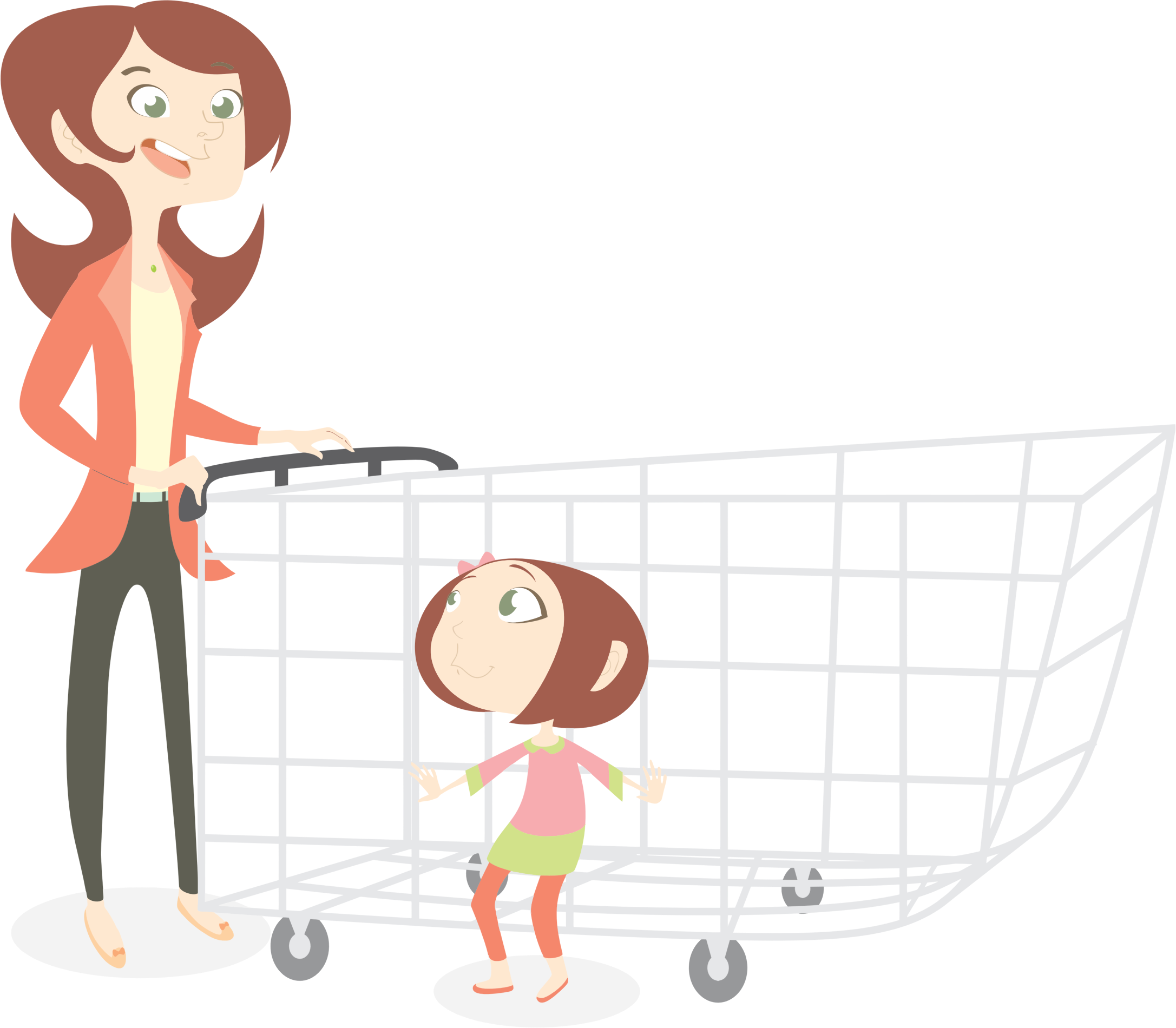 shopping transparent cartoon