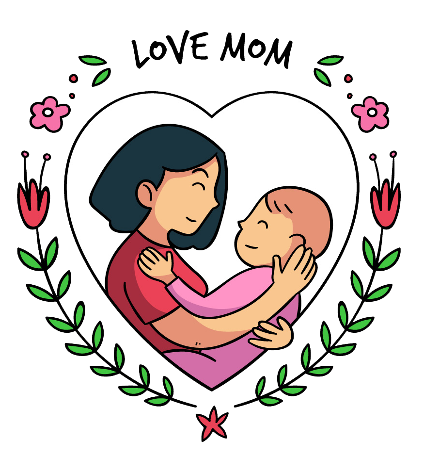 Mom cartoon png. Download mothers day people
