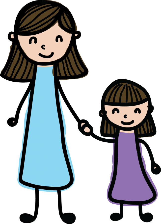 Mom cartoon png. Girl and transparent images