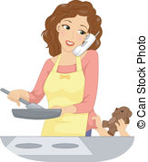 Mother clipart. Mom illustrations and clip svg