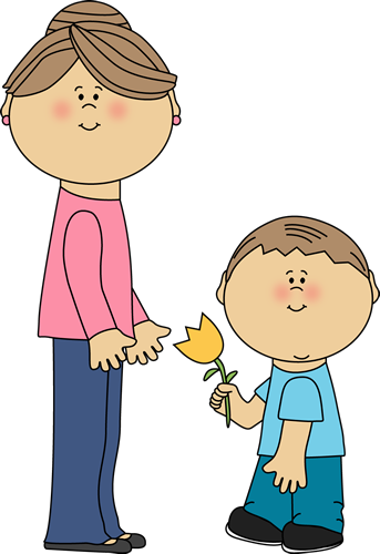 Mother clipart. Cute mom
