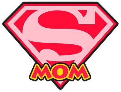 Mother clipart superhero. Stinkin cute paper piecings image royalty free stock