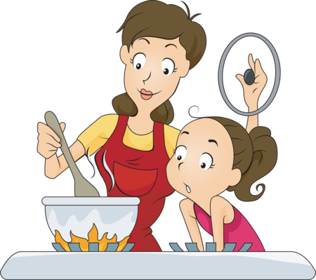 Mom cooking png. Welcome to kindergarten april