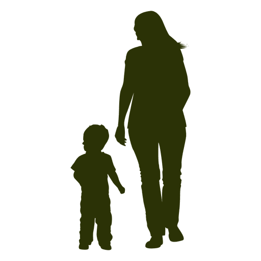 Mom dad child silhouette png. Mother with transparent svg