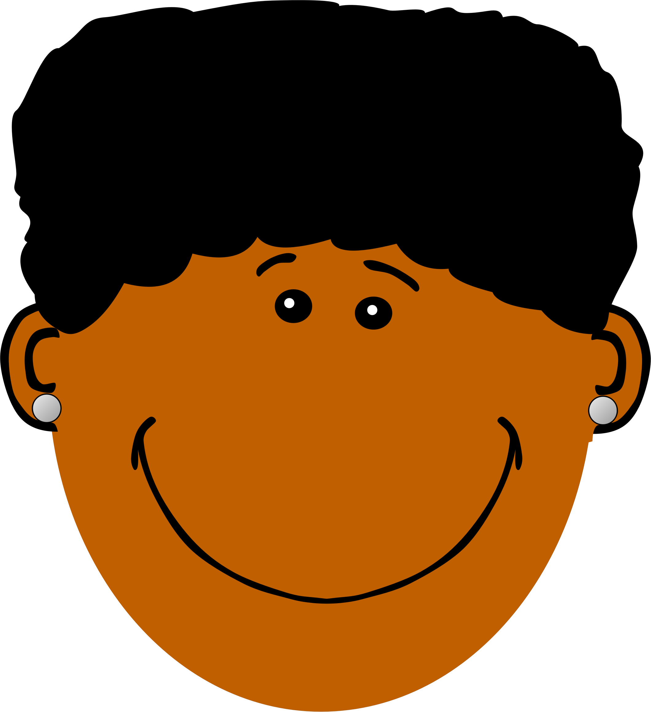 Mom hair png. Clipart with dark skin