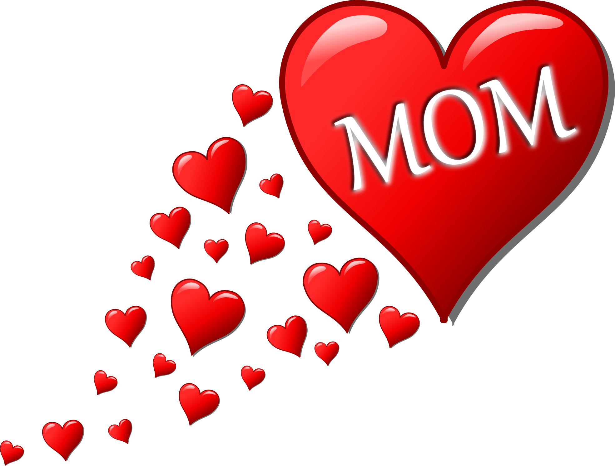 Hearts mother free icons. I love mom png clip art download