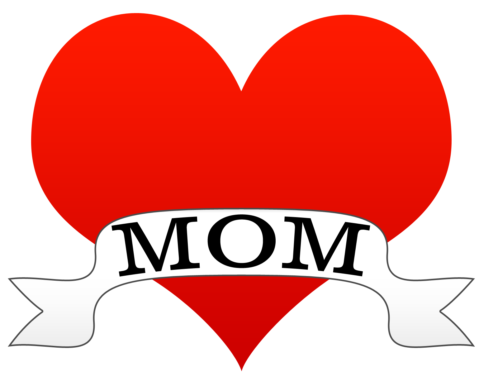 Mom heart png. Tattoo style clipart karen