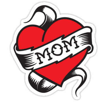 Heart tattoo mart. I love mom png vector freeuse library