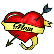 Mom heart tattoo png. I love design toddler