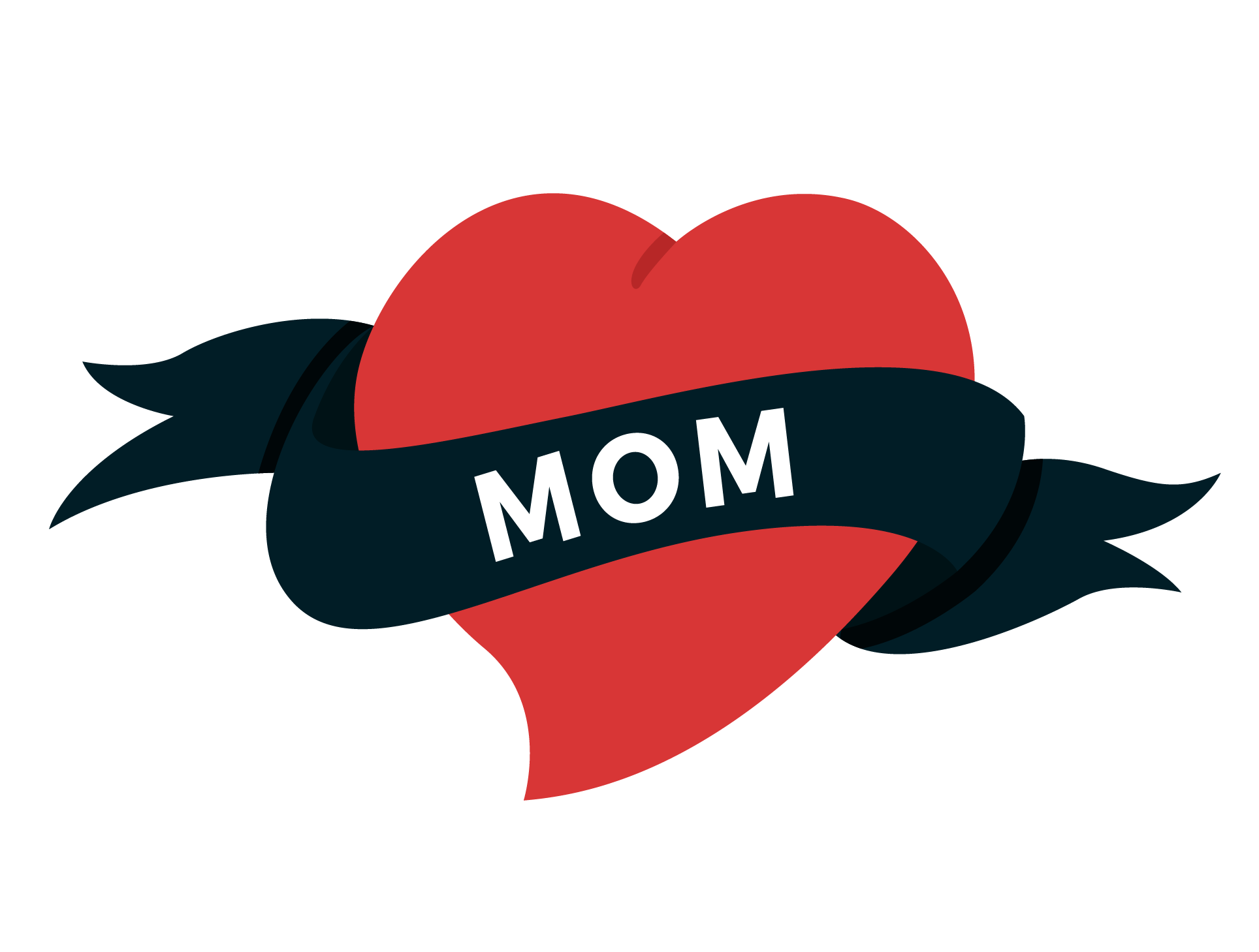 Mom heart tattoo png. Old school swallow valentine