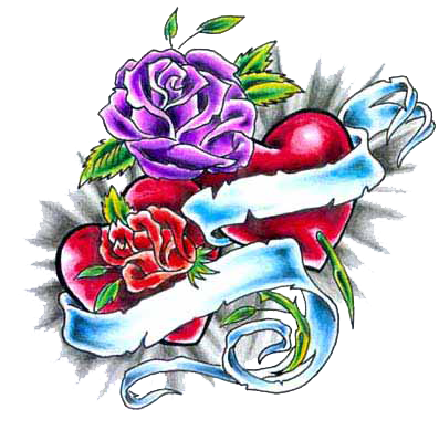 Razor drawing rose tattoo. Tattoos with names heart