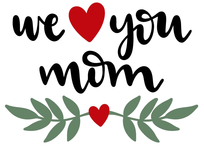 Mom png. I love you clipart