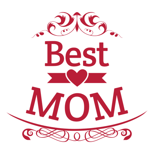 Mom png. Best badge transparent svg