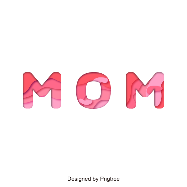 Mom png text. Mother font design happy