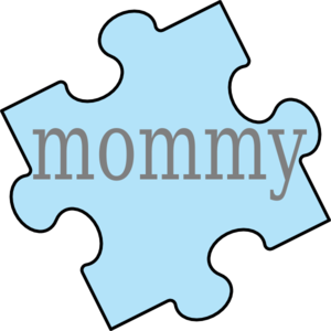 Puzzle piece art at. Mommy clip royalty free