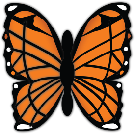 Monarch clipart svg. Butterfly cut file free