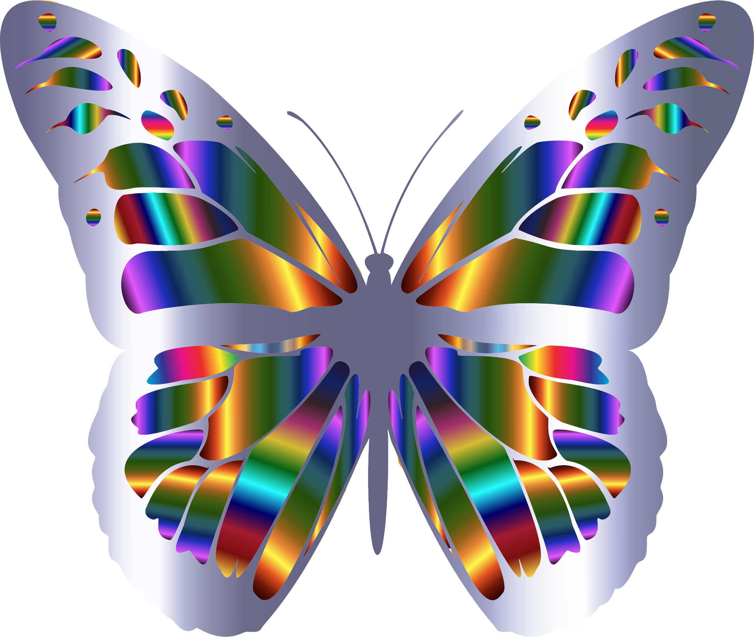 Monarch clipart svg. Iridescent butterfly icons png