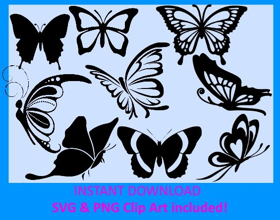 Monarch clipart svg. Butterfly silhouette cut files