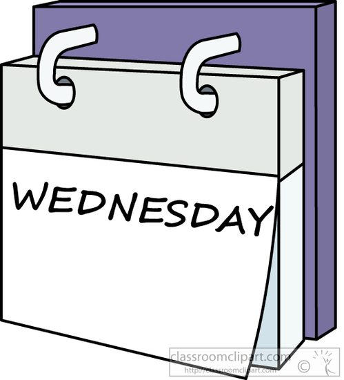 Tuesday clipart tuesday calendar. Day week wednesday a