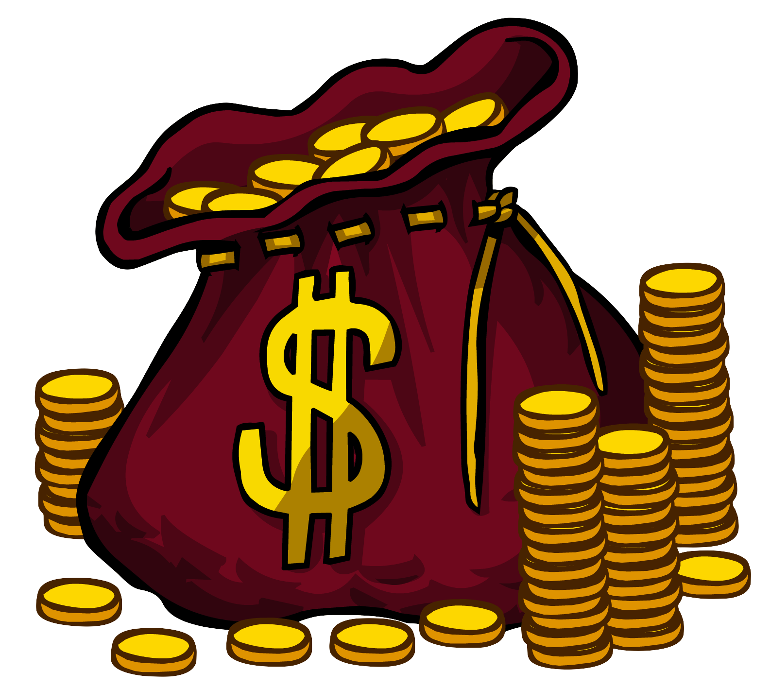 Money cartoon png. Image bag club penguin