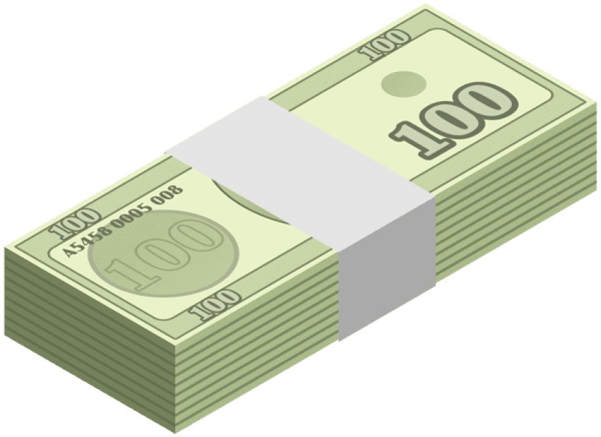 Dollar transparent wad. Download of money clipart