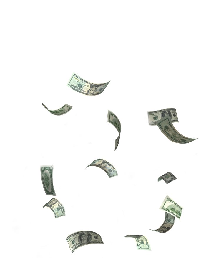 Money falling down gif png. Double fine feature polygon
