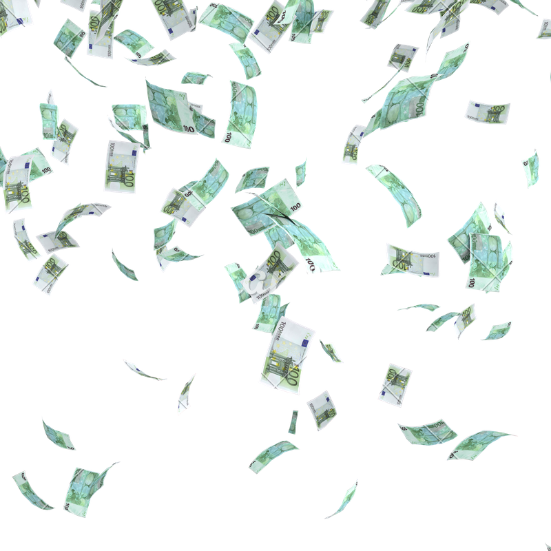 Money falling from sky png. Photos by canva