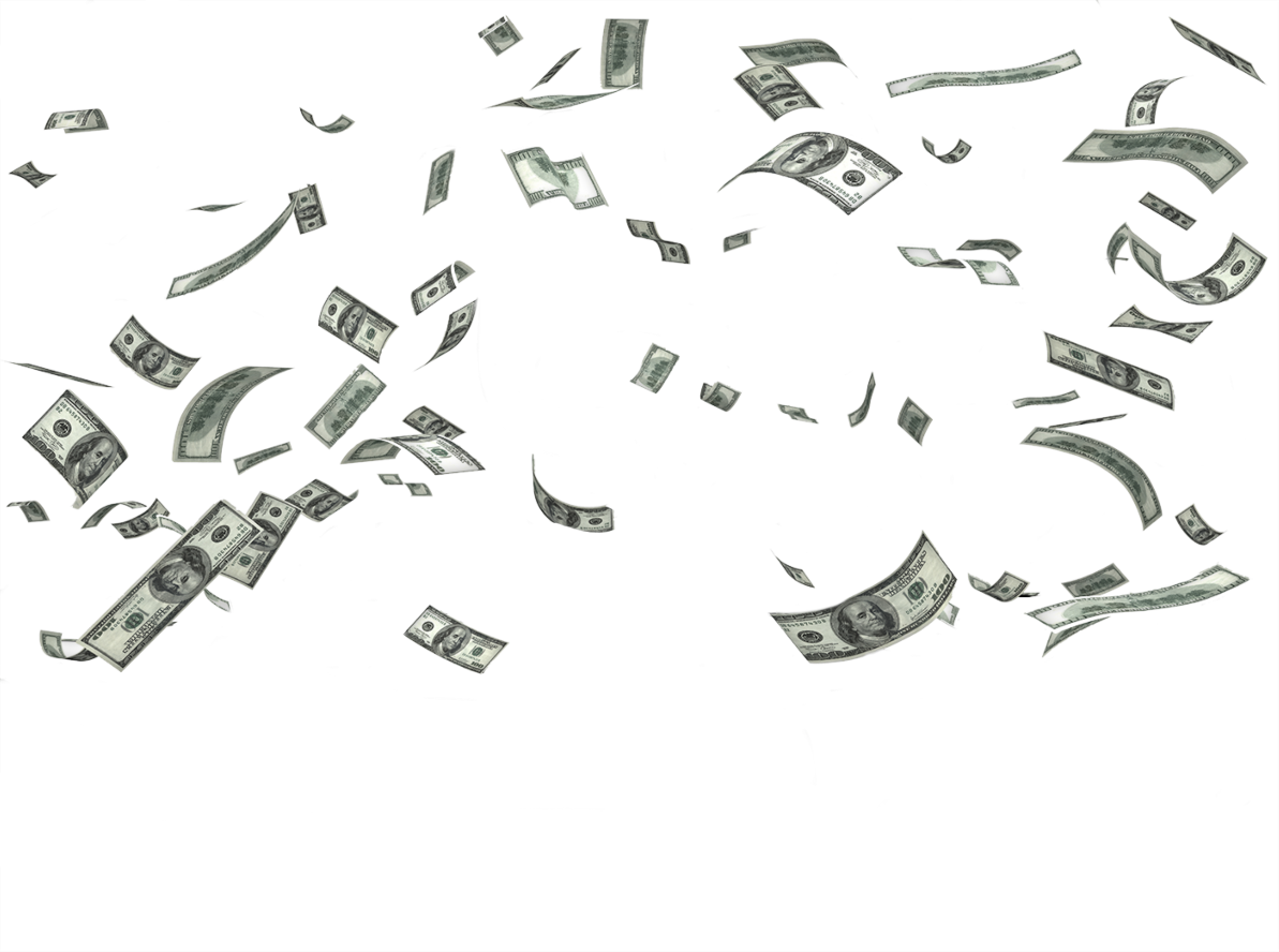 Falling money png hd. From the sky image
