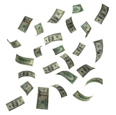 Money falling from sky png. The image