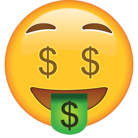 Download money face icon. Open eye crying laughing emoji png image royalty free stock