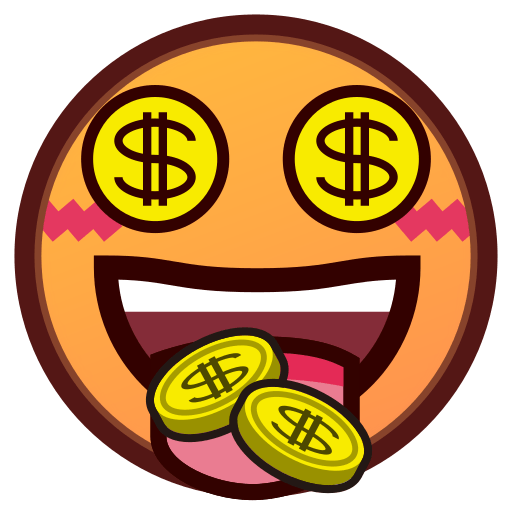 Money tongue emoji png. Mouth face for facebook