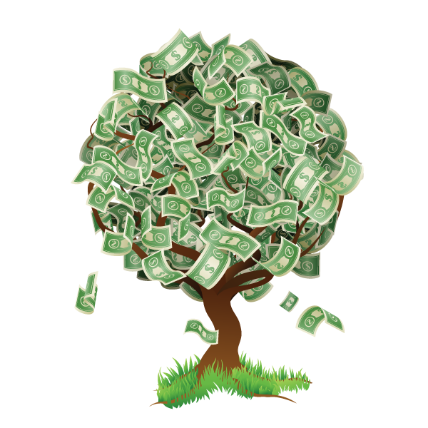 Money tree png. United states dollar royalty