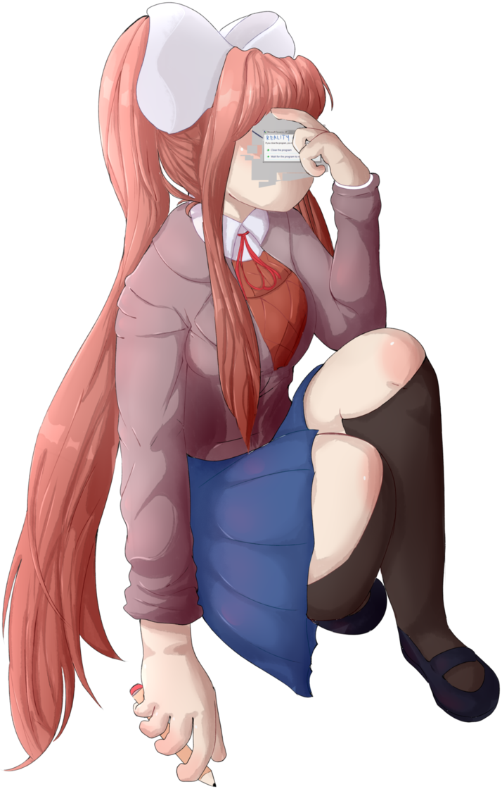 Monika chr png. Is not responding by