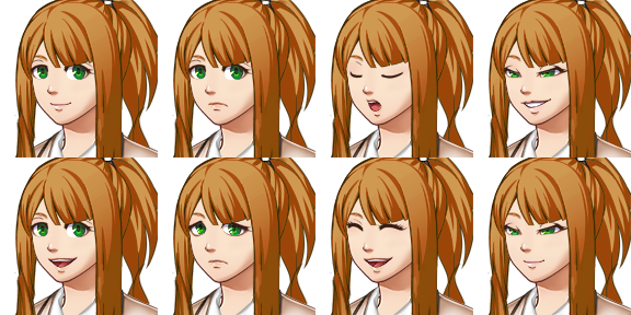 Monika png sprite. Face sprites by goldfang