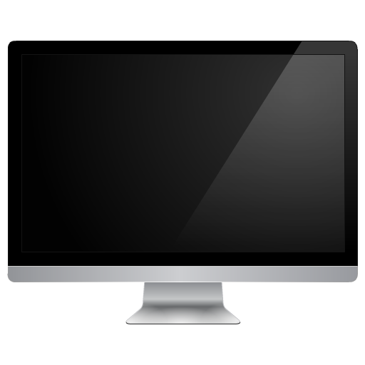 Monitor apple png. Black computer icon free